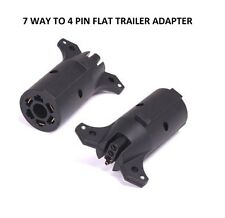 7 Way Round to 4 Pin Flat Trailer Lights Towing Adapter RV7 Boat Class A C Ford