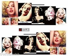 Full Wrap Water Transfers Stickers Nail Art Decals Marilyn Monroe (a492))