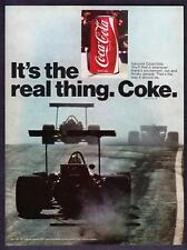 "1971 Grand Prix Racers & Coke Can photo ""It's the Real Thing"" Coca-Cola print ad"