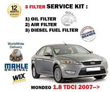 FOR FORD MONDEO 1.8 TDCi 6/2007- NEW SERVICE KIT OIL AIR FUEL FILTER (3 ) KIT