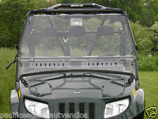 DELUXE Vented Clear MR10 LEXAN WINDSHIELD + Q C Clamps ~ Arctic Cat PROWLER ~UTV