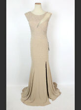 New Authentic Jovani 93143 Nude Sleeveless Bridal Evening Prom Women Gown 4