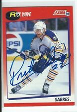 Rick Vaive Signed 1991/92 Score Canadian Card #26