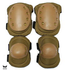 Tan Tactical Knee +Elbow Pad set. Paintball/Airsoft Military Protection Pads