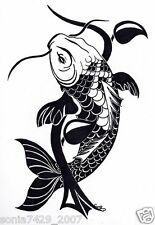Koi Fish JDM Japan Chinese illest Car Vinyl Decals Stickers Salt Diesel Car