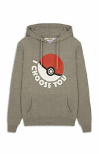 PRIMARK MENS WOMENS POKEMON HOODIE SWEATSHIRT JUMPER PIKACHU OFFICIAL BNWT M