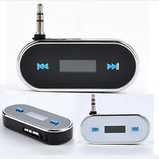 Black Super Quality Wireless 3.5mm Car LCD FM Transmitter For iPhone 5 5S 6