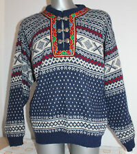 Mens NORWOOL 100% WOOL Nordic Norway Cardigan Jumper Telemark Dale Of. Size M