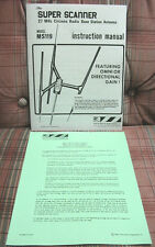 MS-119 Super Scanner CB Beam Base Antenna Instruction Manual + Checkout Sheet