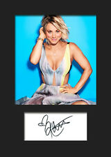 TBBT KALEY CUOCO #1 A5 Signed Mounted Photo Print (RePrint) - FREE DELIVERY
