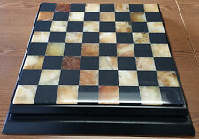 CHIELLINI ITALIAN MARBLE CHESS AND CHECKERS COMBINED SET - VERY GOOD USED