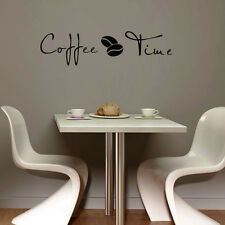 Coffee Time Wall Art Decal Sticker Kitchen Decor Coffee Sign Home Decoration