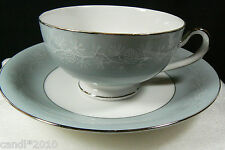 VTG Elegant Fine Seyei China Japan Silver Platinum Pinecone Tea cup & saucer set