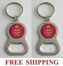 LONE STAR 2 KEY RING BEER BOTTLE WRENCH METAL OPENER NEW