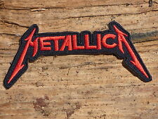 ECUSSON PATCH THERMOCOLLANT aufnaher toppa METALLICA rouge musique /11.4CMX5.0CM