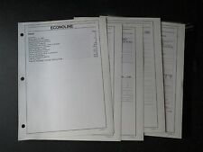 1989 FORD ECONOLINE DEALER FACTS ALBUM BROCHURE SHEETS SET