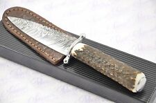 New Fantastic Damascus Steel Genuine Stag Horn Handle Guard Sgian Dubh Made in S