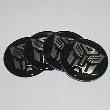 "4x Car 60MM(2.36"") Autobot Transformers Wheel Center Hub Cap Sticker Emblem"