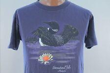Vtg International Falls Minnesota T Shirt - Cotton 90s Purple - Men's Large L