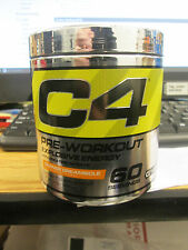 "CELLUCOR C4 PRE-WORKOUT ENERGY w/ CREATINE ""ORANGE CREAMSICLE"" 60 SERV. NEW"