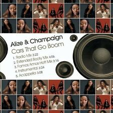 Cars That Go Boom - Alize & Champaign (2013, CD NEUF)