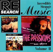 RE / SEARCH: Incredibly Strange Music 2 -- LOUNGE - SPACE - EXOTIC (CD) LIKE NEW