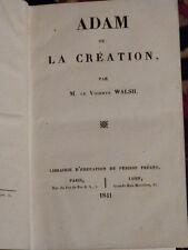 Adam ou la Création par M. le vicomte Walsh. 1841