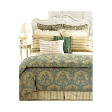 Court of Versailles LA CARAVANE King PILLOWCASES Gold Blue Green $120 New