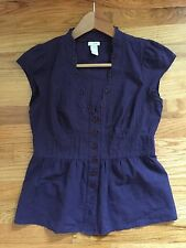 Anthropologie Odille Purple Shirt Size 2