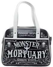 Sourpuss Working Stiffs Monster Mortuary Bowler Bag NEW Bowling Horror Goth Punk
