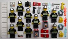 10 LEGO FIREMEN MINIFIGS LOT fireman police town city town chief figure men guys