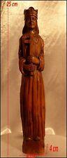 """""""St Louis"""" Sculpteur Breton Jules Martin-Guillory Sculpture Bois Statue Bretonne"""