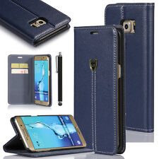 Credit Card Holder Leather Wallet Case Cover For Samsung Galaxy S6 edge+ Plus