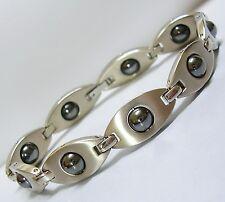 Premium Titanium Magnetic Bracelet Bio Health Pain Care Therapy Hematite MATA SV