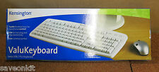 Trabajo Lote 10 X New Kensington Valu Teclado De Marfil Usb/ps/2 Pc Blanco Con Cable
