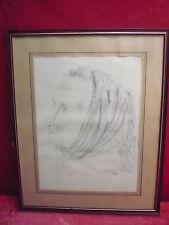 bello immagine__Ritratto uno donna__disegno__MANFRED Buchholz 1963__grahmt