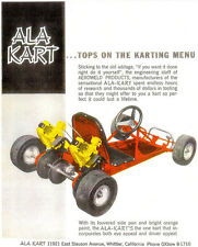 Vintage And Rare Color 1961 Ala Kart Go-Kart Ad