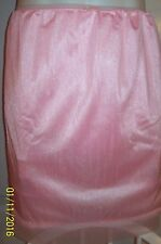 "PINK Tricot 2 LAYER SLIP & 6"" SLEEVE PANTY * Sheer Hems  30-40 Waist * Length 21"