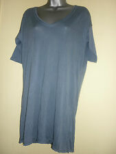 Blue fine knit jersey T-shirt/top by Hilfiger Denim in size M UK12 BNWT