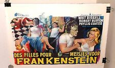 I WAS TEENAGE FRANKENSTEIN 1957 VINTAGE BELGIAN MOVIE POSTER horror MONSTER art