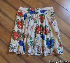OLD NAVT ~ NEW! NWT Size 8 ~ Colorful Floral Voile Cotton Beach Skirt