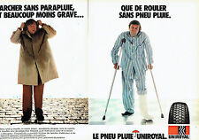 PUBLICITE ADVERTISING  016  1981  Uniroyal  pneus pluie ( 2p) 2