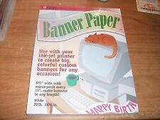 """Legacy Banner Paper White 20 lb. 1100 in. 8.5"""" Micro Perf Every 11"""" Birthday NEW"""