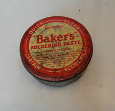 Vintage Bakers Soldering Paste tin with some contents 7cm diameter