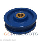 "3"" Steel Pulley Wheel Sheave with Bronze Bush Blue Painted FREE P+P"