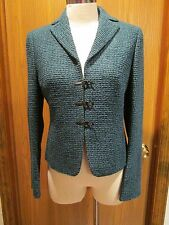 Akris Green Wool Fitted Jacket Size 6
