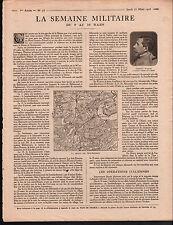WWI Carte Région Bois-Bourrus/ Général Roques /Poilus la Meuse 1916 ILLUSTRATION