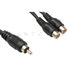 Hosa Technology YRA-104 RCA to Dual RCA Female Y Cable Mono Audio Splitter NEW