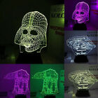 3D Star Wars Night Bedroom LED Light Desk Table USB Kids Bedside Lamp Room Decor