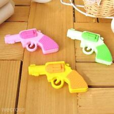 Kid Sweet Cute Pistol Gun Type Pencil Eraser Rubber Stationery Novelty Gift Toy